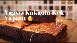 Yağsız Kakaolu Kek Yapımı | How To Make Light Cake