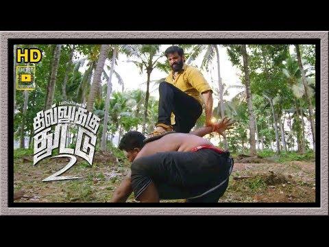 Dhilluku Dhuddu 2 Full Movie | Santhanam Trashes Thugs | Santhanam Fight | Mottai Rajendran
