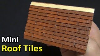 mini Roof Tiles from coffee sticks | How to make a roof tile for a mini house