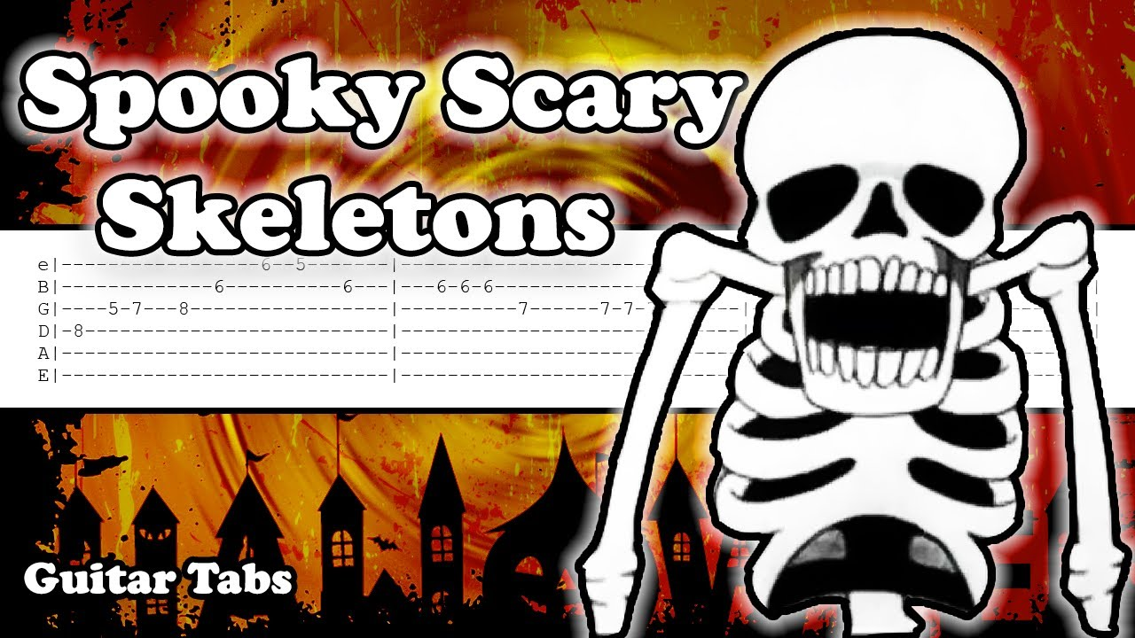 How to play Spooky Scary Skeletons on Guitar | Tutorial | Tabs