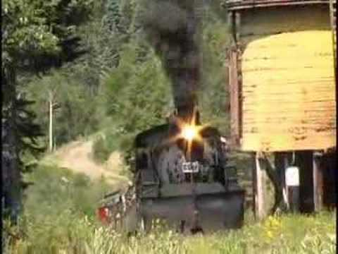 Chama to Cumbres Pass narrow gauge steam trackside action