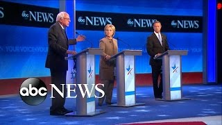 The candidates debate the issues at the ABC News Democratic preside...
