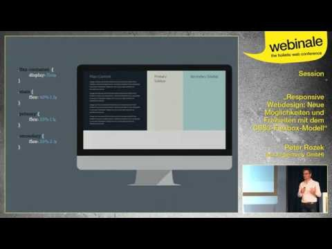 Möglichkeiten Und Freiheiten Mit Dem CSS3-Flexbox-Modell - Peter Rozek | Webinale 2014