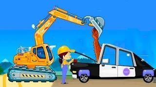 Мультфильмы для детей Мультики про машинки все серии подряд. Автомастерская Рабочие машины мультики