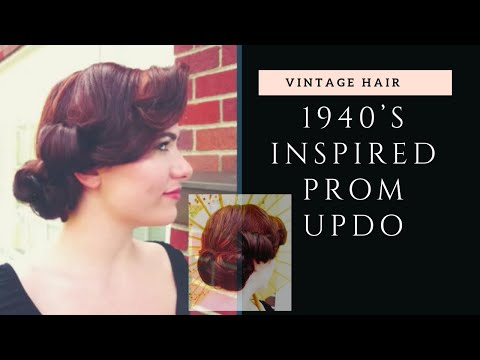 "'Vintage Prom""~Retro Inspired Prom/ Formal Hair/Makeup Tutorial"