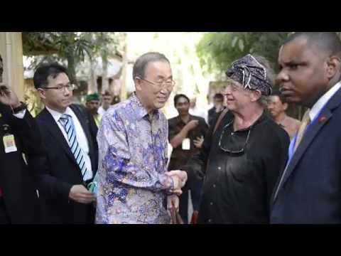 UN Sec-Gen, Ban Ki-Moon at Green School Bali