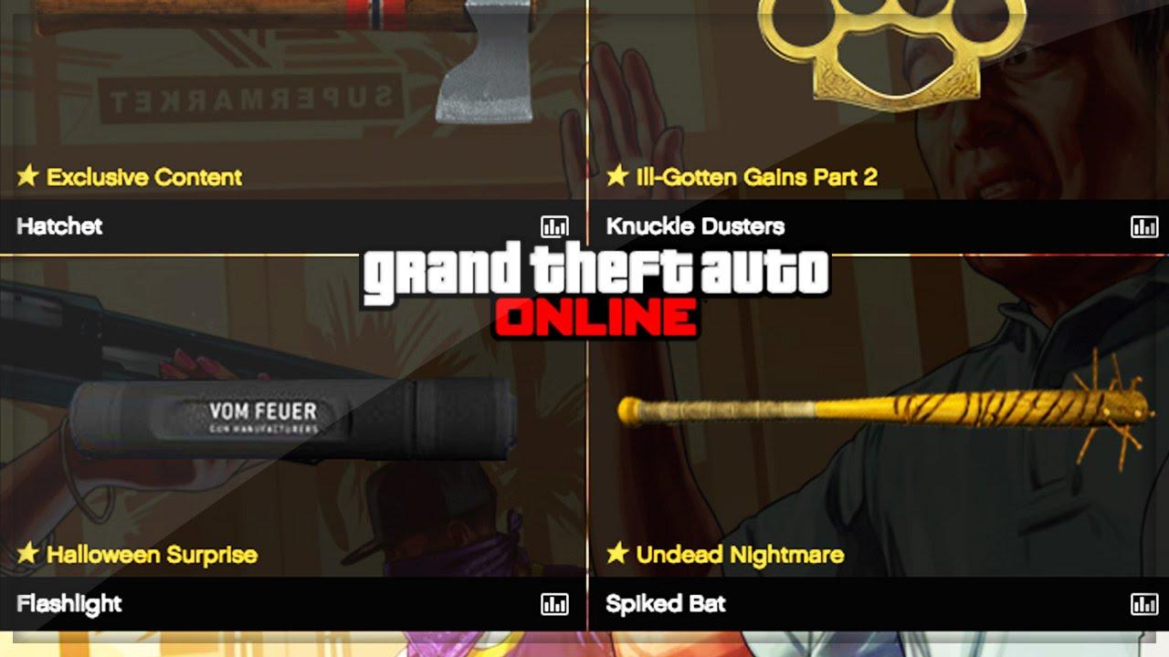 GTA 5 Online Halloween Update! GTA V - New Weapon? + Slasher DLC ...