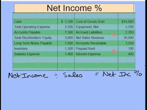 Gross Profit % and Net Income % Example
