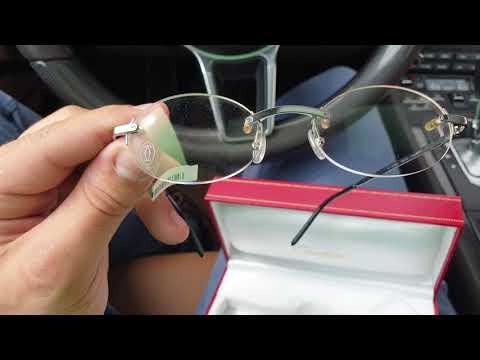 14f04e94551 Cartier Occhiali Rimless Titanium Glasses Review - YouTube