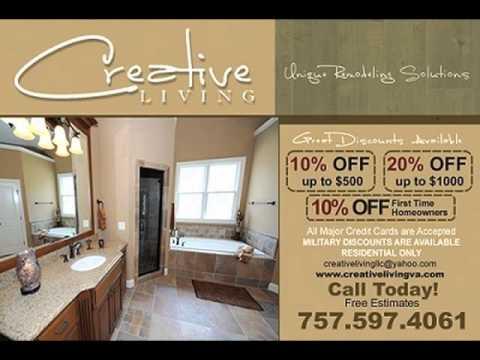 7575974061 bathrooms carpet concrete deck fence flooring heating air kitchen painting plumbing roofing siding windows in virginia beach - Bathroom Remodeling Virginia Beach