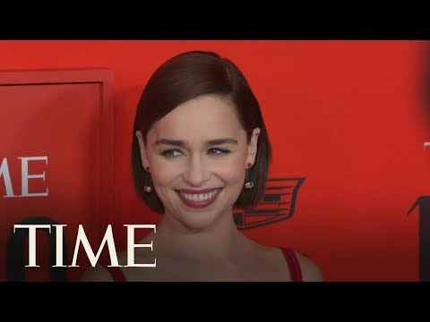 Game Of Thrones' Stars Emilia Clarke & Richard Madden Reunite On The Red Carpet - TIME 100 - TIME - 동영상
