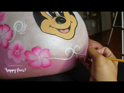 PREGNANT BELLY PAINTING │Minnie Mouse
