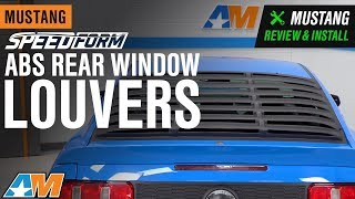 2005-2014 Mustang Coupe SpeedForm ABS Rear Window Louvers Review & Install