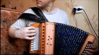 Цыганочка на новой гармони(май 2015г)(Gipsygirl(tsyganochka) on handmade accordion)