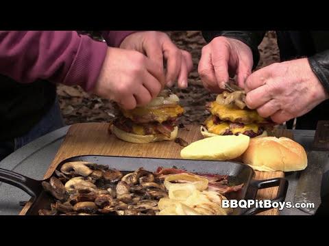 Double Cheese Bacon Bang Burgers