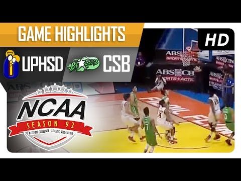 UPHSD vs CSB   Game Highlights   NCAA 92 - August 25, 2016