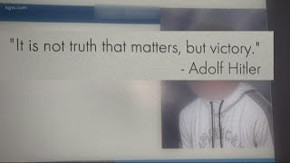 Hitler quote added to high school yearbook