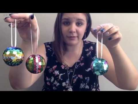 DIY Sequin Xmas Ornaments
