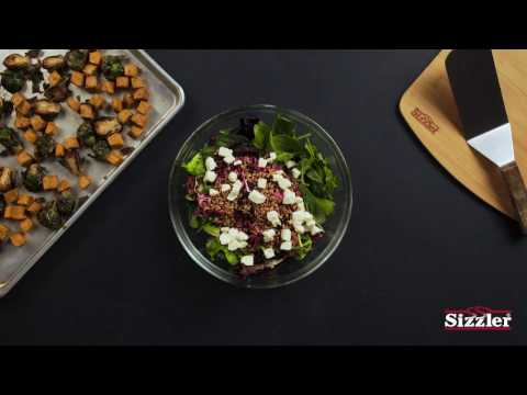 Sizzler Salad Series - Balsamic Brussels Sprout and Sweet Potato Salad