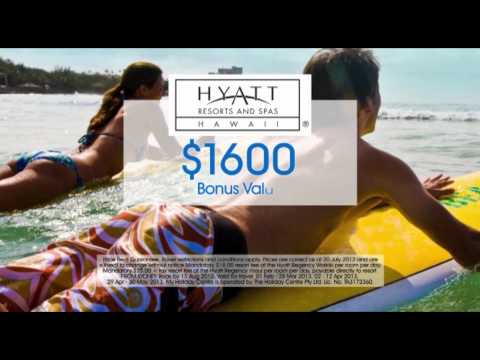 Hyatt Regency Waikiki Beach and Maui Island holiday ex Sydney Commercial