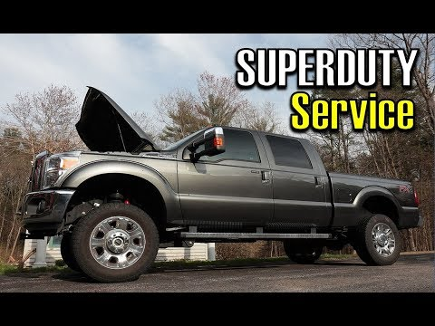 F250 Oil & Filter Change Vlog | 2016 FORD F-250 Lariat FX4 | K&N Air Filter Cleaning & Oiling
