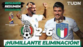 Resumen y Goles Me xico 2 6 Italia Mundial de Playa Paraguay 2019 TUDN