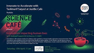 BLiSc Science Cafe: Innovate to Accelerate with Dr Taslimarif Saiyed