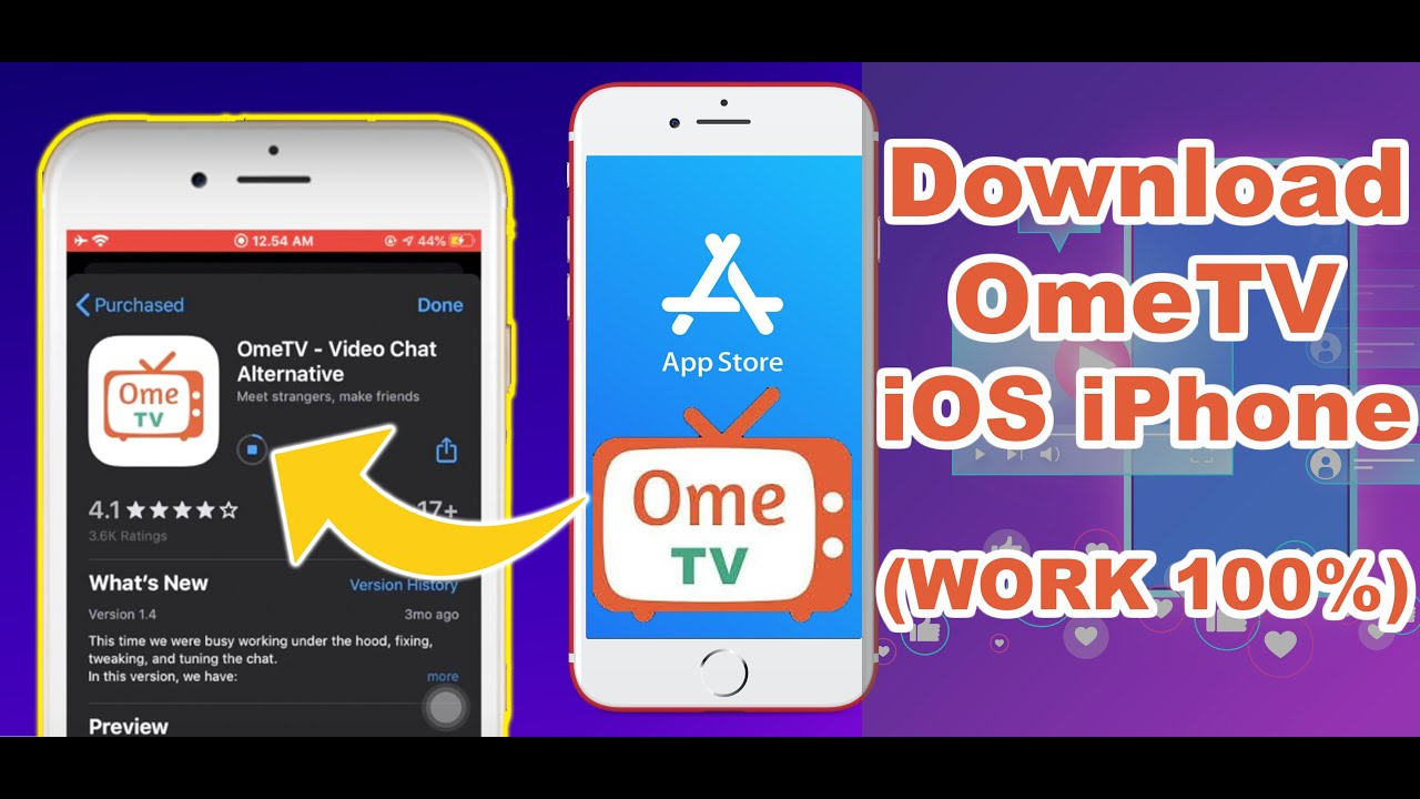 How To Download Ometv For Ios Iphone On Appstore App Similiar Ometv Youtube