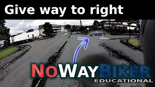How give way to the right works (yield to the right/priority to the right)