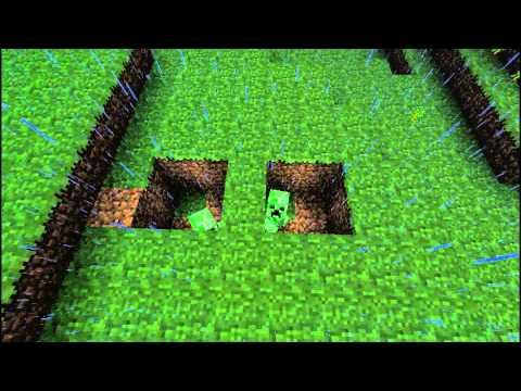 minecraft how to make a lightning creeper