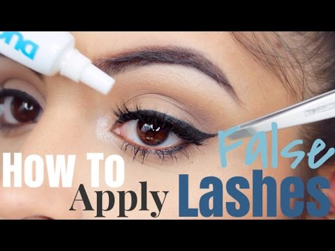 716513a21df HOW TO Easily Apply False Lashes Perfectly Every Time - YouTube