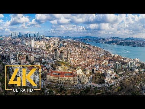ISTANBUL in 4K - A Virtual Trip to the Heart of Turkey - 10-Bit Color Urban Relax Video