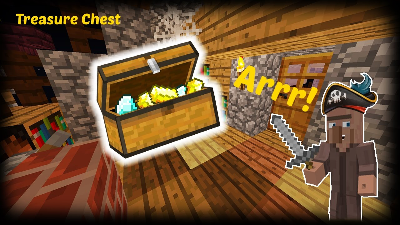 how to create a treasure chest in minecraft