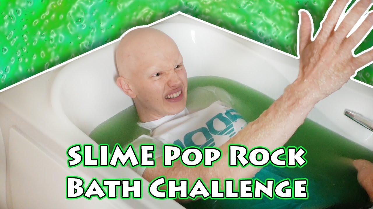 Slime Pop Rock Bath Challenge Youtube