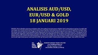Analisis Forex Trading AUD/USD, EUR/USD & Gold 18 Jan 2019
