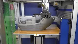 XXL 3DBenchy Boat im Highspeed-Verfahren auf Multirap M800 von Multec