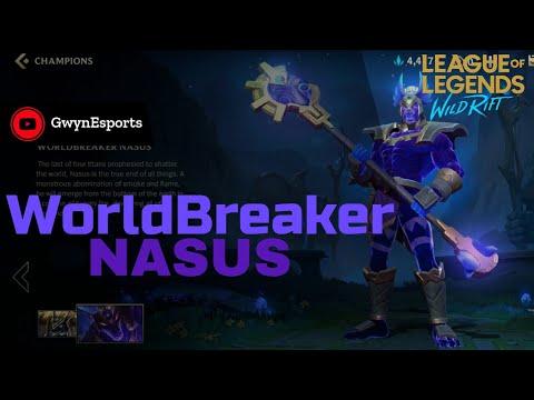 NASUS WorldBreaker Skin Gameplay| LoL:Wild Rift| Closed Beta