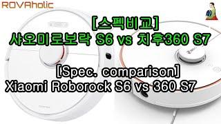 샤오미로보락S6 vs 치후360 S7 스펙비교/Xiao…