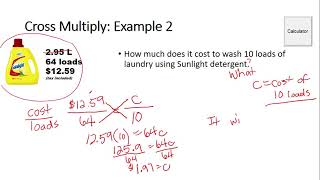Cross Multiply and Uฑit Rate Examples