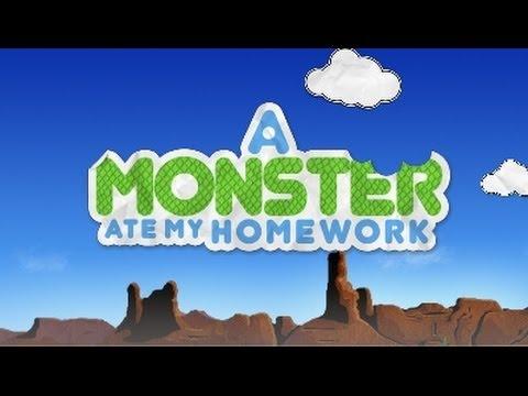grade   level   a monster ate my homework   YouTube YouTube grade   level   a monster ate my homework
