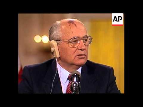 President George H.W. Bush and Soviet Union leader Mikhail Gorbachev held their final news conferenc