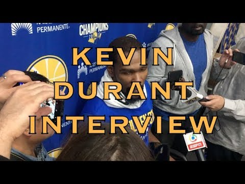 Partial KEVIN DURANT interview from practice in Oakland, 2 days before 2018 WCF G3