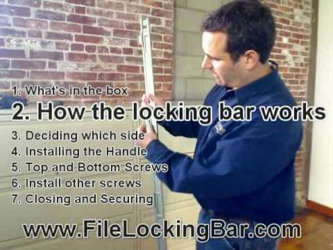 Installing File Locking Bar on filing cabinet - YouTube