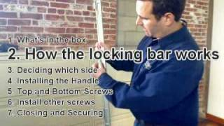 Installing File Locking Bar On Filing Cabinet