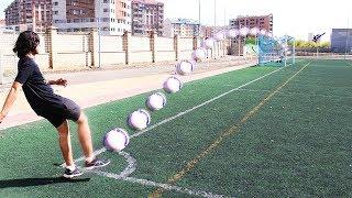 TIROS IMPOSIBLES CON YOUTUBERS   RETOS DE FÚTBOL (crossbar challenge y más)
