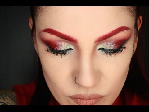 Kat Von D, Thebodyneeds | Red Rockstar Makeup tutorial