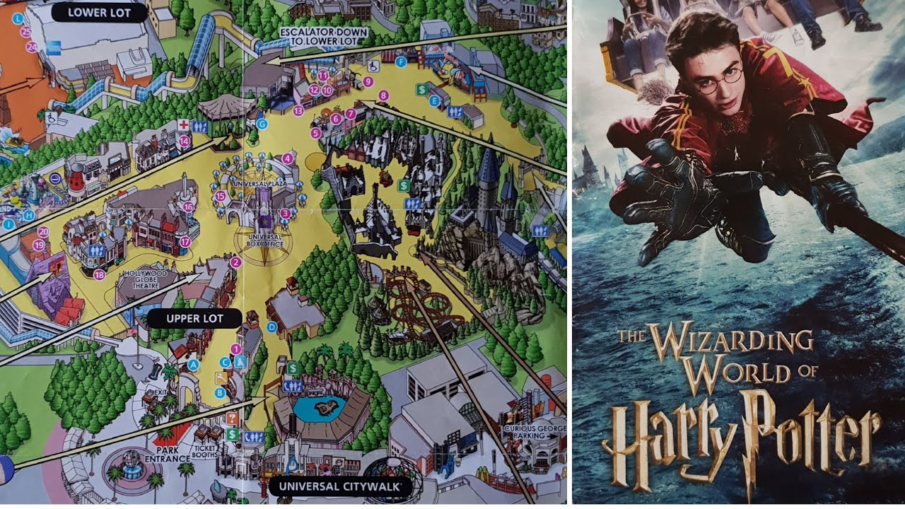 Theme Park Map Monday Universal Studios Hollywood & Kung fu Panda The  Emperors Quest, Episode 14