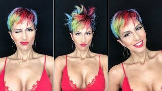 How to style short pixie hair tutorials | 5 minute Hair Tutorial
