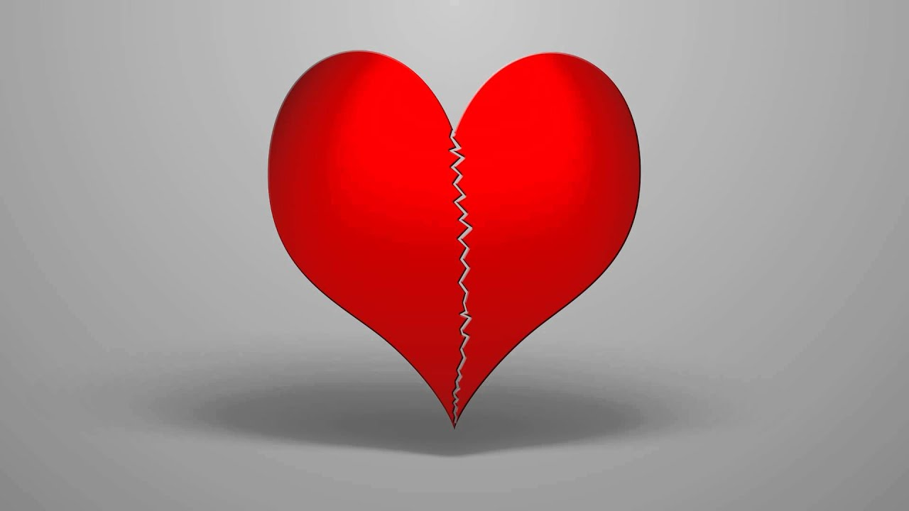 Broken Heart: Animation Of A Broken Heart Stock Footage