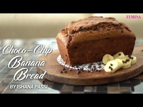 chocolate-chip-banana-bread-recipe-|-how-to-make-choco-chip-banana-bread-|-dessert-recipe-|-femina